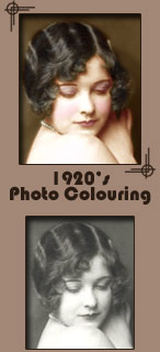 Art Deco Photo Restoring -  Digital Photo Colouring - Bow
